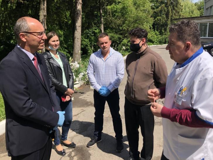 Андрій Парубій на зустрічі з медиками у Горохові