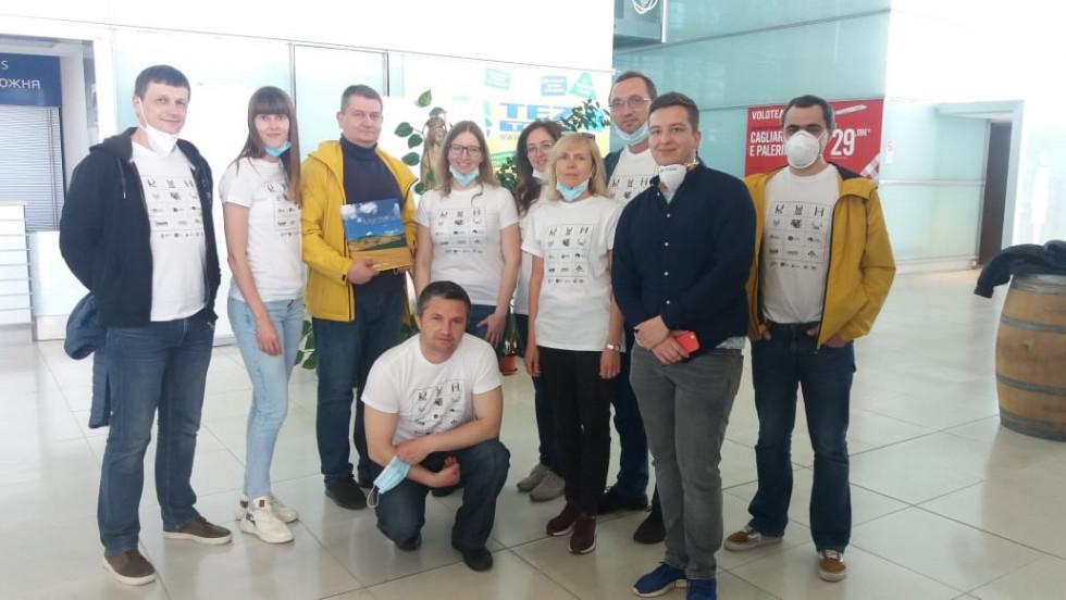 Українська команда медиків, які допомагали в Італії