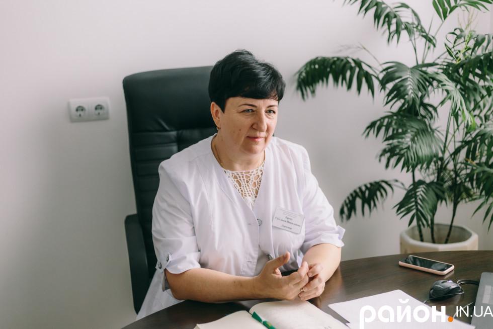 Головна лікарка Шацької районної лікарні Світлана Крецу