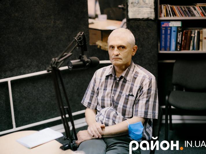 Ігор Мочарський під час ефіру
