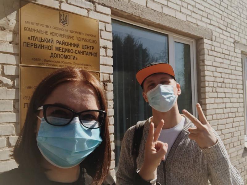 Анна Єкименко-Поліщук із чоловіком Віталієм після вакцинації